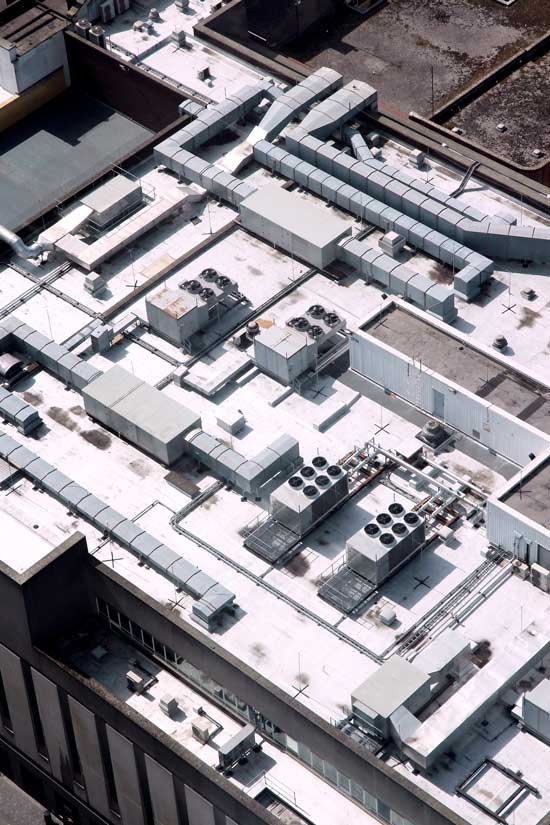Zdjęcie pokazujący pomalowany dach